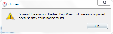 Import Playlist Error