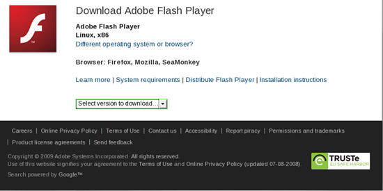 Install Flash Player on Firefox
