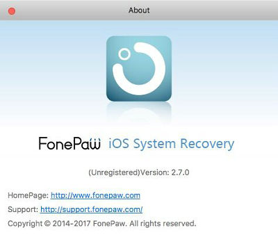 iOS System Recovery Homepage