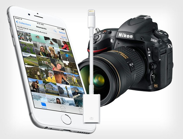 Ios 9 2 lets you import photos directly to iphone from a - Camera connectee iphone ...