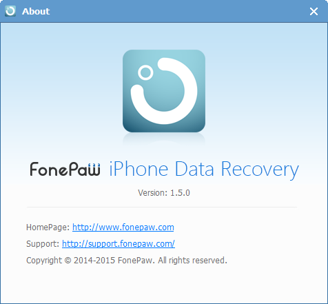 FonePaw iPhone Data Recovery Version 1.5.0