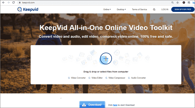 Compress Videos Online With KeepVid