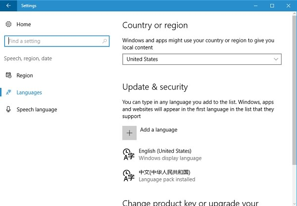 Windows Language Settings