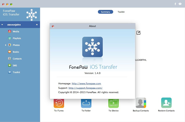 FonePaw iOS Transfer Mac 1.4.0