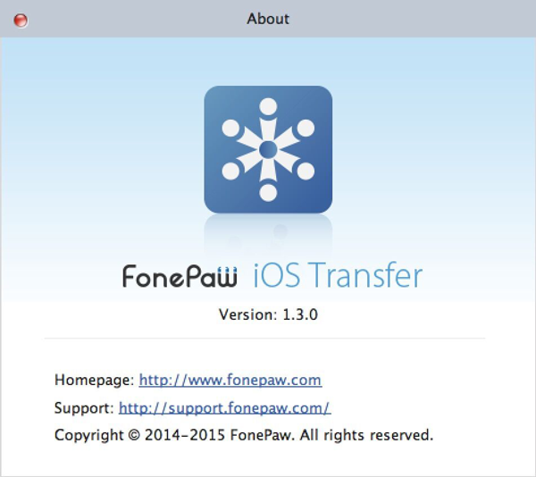Mac of FonePaw iOS Transfer 1.3.0