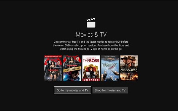 Movies & TV App on Windows 10