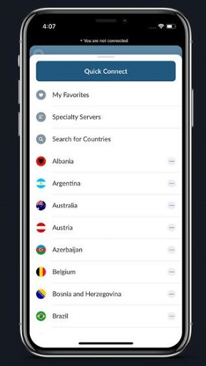 NordVPN for iPhone