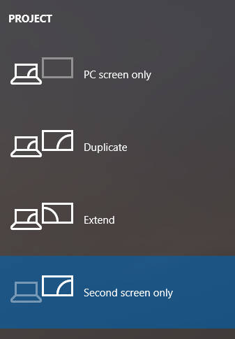 Project PC Screen Only