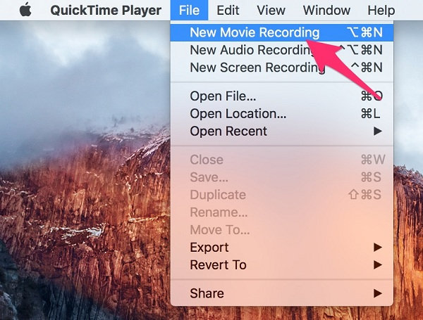 QuickTime Screen Recording