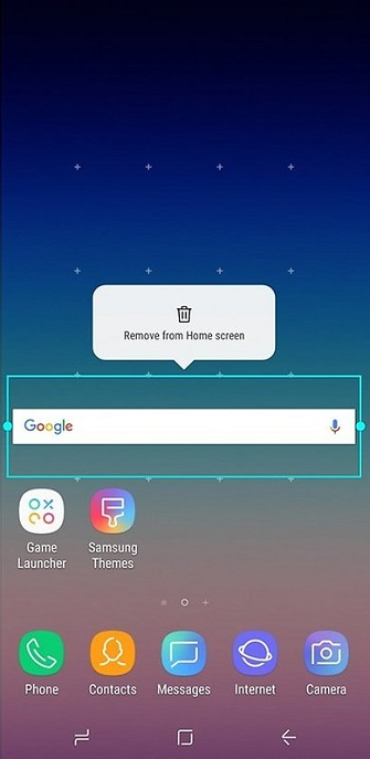 Remove Google Search Bar on Samsung