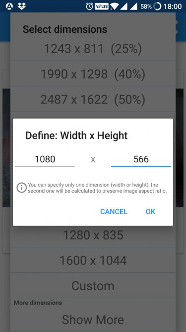 Resize Photos on Android