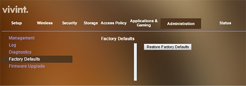 Restore Wi-Fi Network Factory Settings