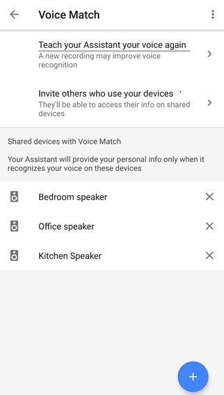 Retrain Google Assistant Voice Model
