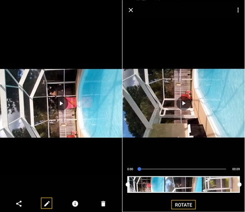 Rotate Video via Google Photo
