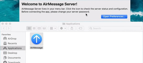 Run AirMessage on Mac