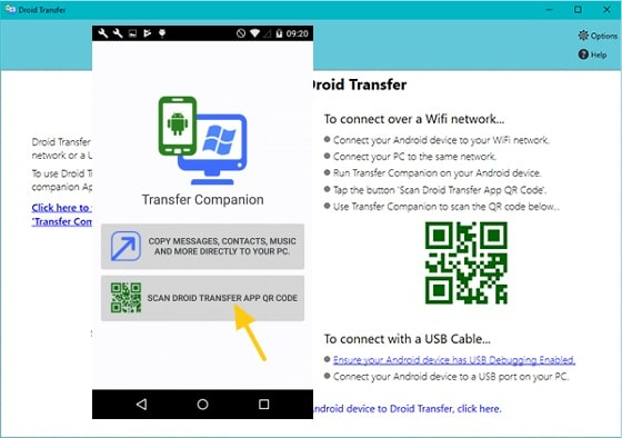 Scan QR Code To Transfer Android Files