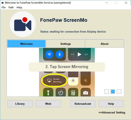 ScreenMo Welcome Tab