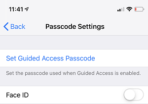 Set Passcode for Guide Access