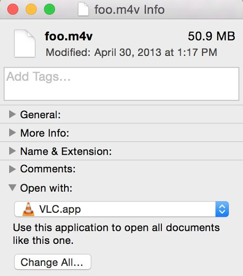 Set VLC as Default Media Player on Mac
