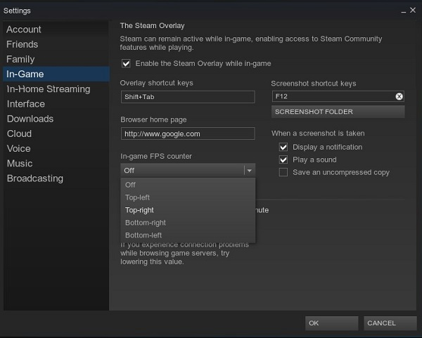 Steam Ingame FPS Counter