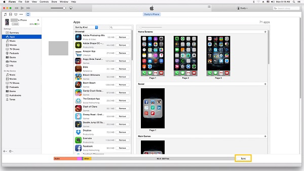 Sync Apps with iPhone and iTunes