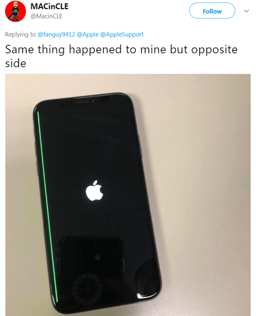 Case 2: Green Line on iPhone X