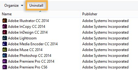 Uninstall Adobe Creative Cloud on Windows