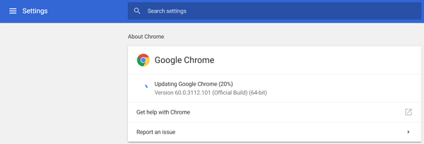 Update Chrome on Win/Mac