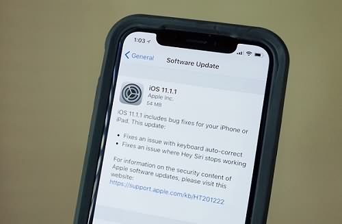Update iPhone X