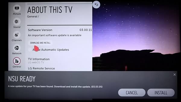 Update LG Smart TV
