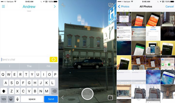 Upload iPhone Photos to Snapchat
