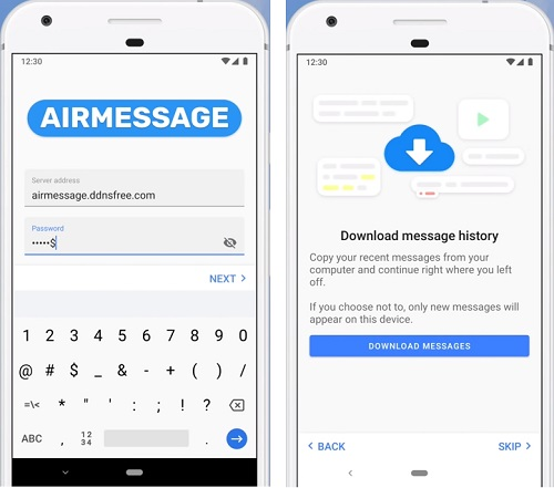 Use AirMessage on Android