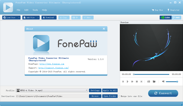 FonePaw Video Converter Ultimate 1.3.0