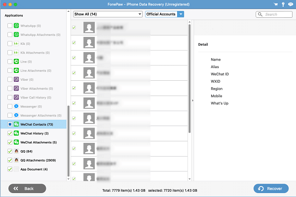 Mac Recover WeChat Contacts