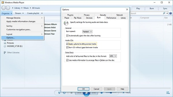 Windows Media Player Apply Volume Levelling