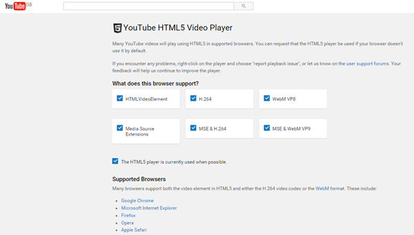 YouTube HTML 5 Video